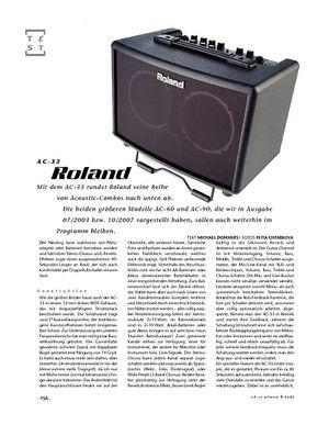 Gitarre & Bass Roland AC-33, Akustik-Verstärker
