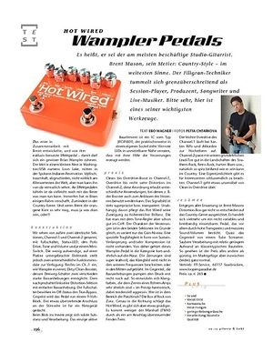 Gitarre & Bass Wampler Pedals Hot Wired, FX-Pedal