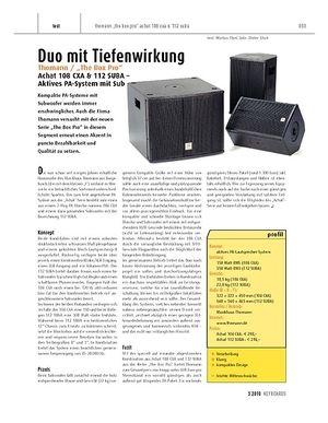 "Keyboards ""Thomann / """"The Box Pro"""" Achat 108 CXA & 112 SUBA - aktives PA-System mit Subwoofer"""