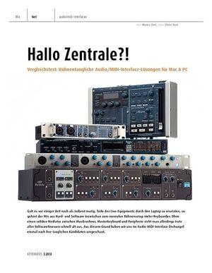 Keyboards Vergleichstest: Bühnentaugliche Audio/MIDI-Interface-Lösungen für Mac & PC