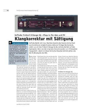 Sound & Recording Softube Trident A Range EQ - Plug-in für Mac und PC