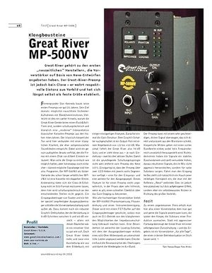 Sound & Recording Great River MP-500NV