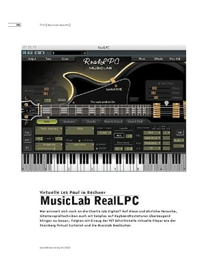 Sound & Recording MusicLab RealLPC