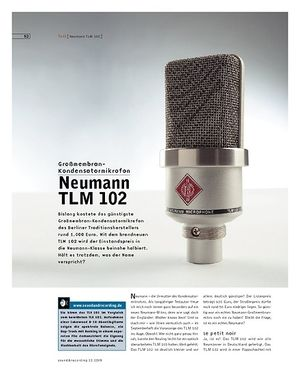 Sound & Recording Neumann TLM 102