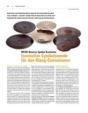 Sticks Meinl Byzance Cymbal-Neuheiten 2010