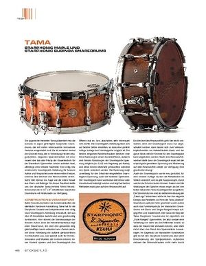 Sticks Tama Starphonic Maple und Bubinga Snaredrums