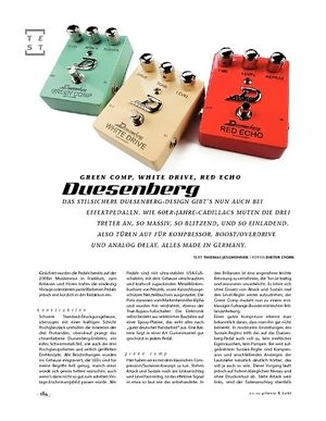 Gitarre & Bass Duesenberg Green Comp, White Drive, Red Echo, Effektpedale