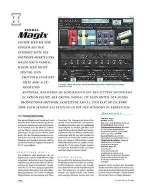 Gitarre & Bass Magix Vandal, Modeling-Software