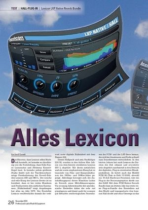 Professional Audio Lexicon LXP Native Reverb Bundle
