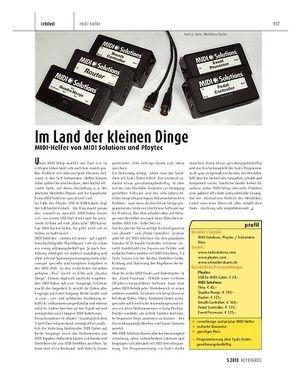 Keyboards MIDI-Helfer von MIDI Solutions und Ploytec