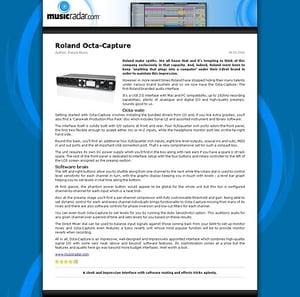 MusicRadar.com Roland Octa-Capture