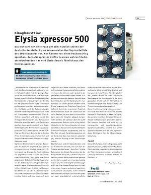 Sound & Recording Elysia xpressor 500