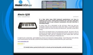 MusicRadar.com Alesis Q25