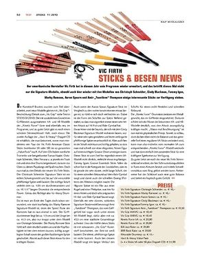 Sticks Vic Firth Sticks & Besen News 2010