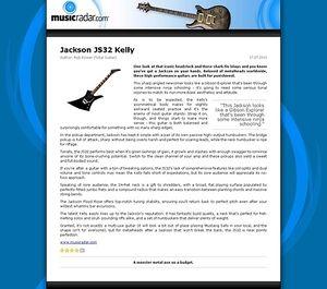 MusicRadar.com Jackson JS32 Kelly