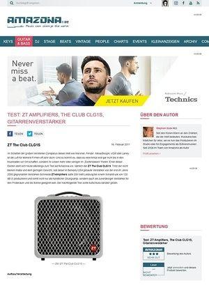 Amazona.de Test: ZT Amplifiers, The Club CLG1S, Gitarrenverstärker