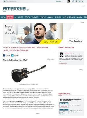 Amazona.de Test: Epiphone, Dave Navarro Signature Jane, Westerngitarre