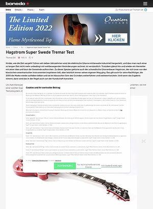 Bonedo.de Hagstrom Super Swede Tremar