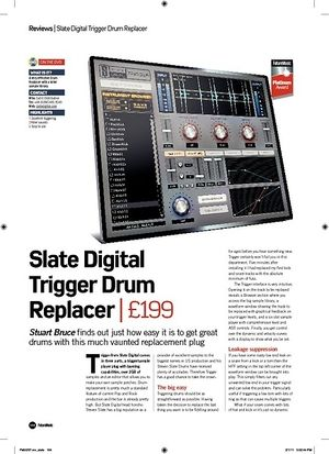 Future Music Slate Digital Trigger Drum Replacer