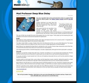 MusicRadar.com Mad Professor Deep Blue Delay