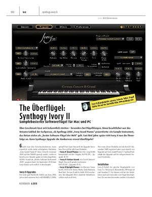 Keyboards The Überflügel: Synthogy Ivory II