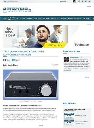 Amazona.de Test: Lehmann Audio Studio Cube