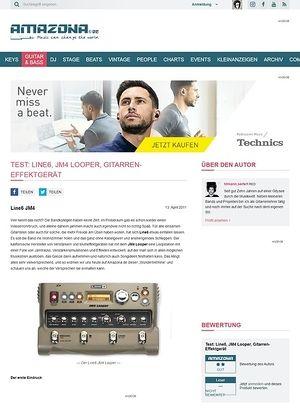 Amazona.de Test: Line6, JM4 Looper, Gitarren-Effektgerät