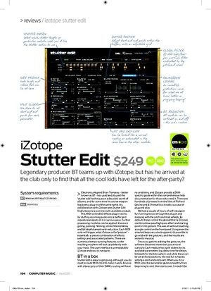 Computer Music iZotope Stutter Edit