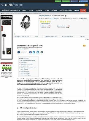 Audiofanzine.com 6 casques autour de 150 euros