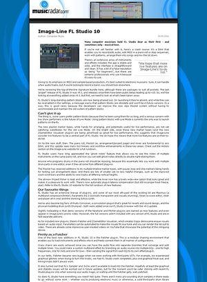 MusicRadar.com Image-Line FL Studio 10