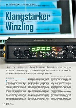 Professional Audio Klangstarker Winzling Sound Devices USBPre 2