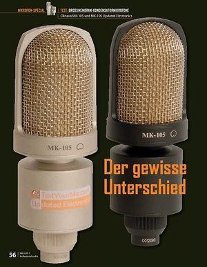 Professional Audio Oktava MK-105 und MK-105 Updated Electronics