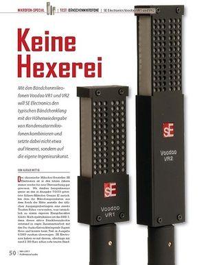 Professional Audio Keine Hexerei SE Electronics Voodoo VR1 und VR2