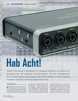 Professional Audio Hab Acht!  Roland Octa-Capture