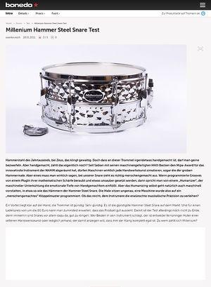 Bonedo.de Millenium Hammer Steel Snare
