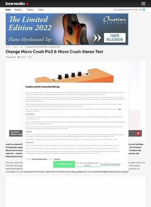 Bonedo.de Orange Micro Crush Pix3 & Micro Crush Stereo