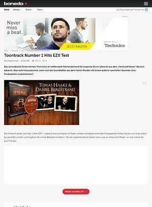 Bonedo.de Toontrack Number 1 Hits EZX