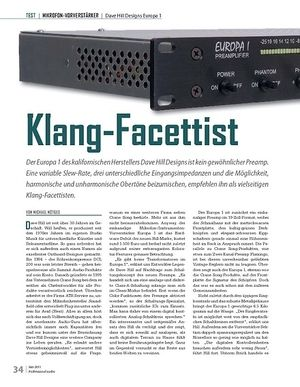Professional Audio Klang-Facettist: Dave Hill Designs Europa 1