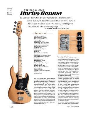 Gitarre & Bass Harley Benton HBB1975 NA Bass