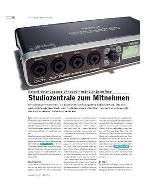 Sound & Recording Roland Octa-Capture UA-1010 – USB-2.0-Interface