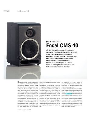 Sound & Recording Focal CMS 40