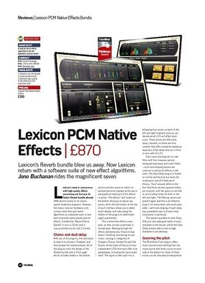 Future Music Lexicon PCM Native Effects