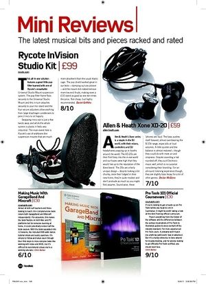 Future Music Rycote InVision Studio Kit