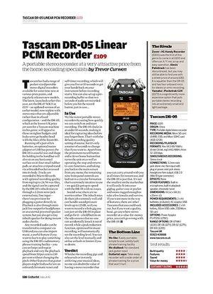 Guitarist Tascam DR-05 Linear PCM Recorder