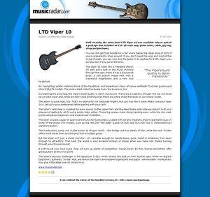 MusicRadar.com LTD Viper 10