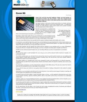 MusicRadar.com Zoom R8