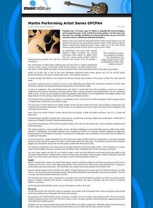 MusicRadar.com Martin Performing Artist Series GPCPA4