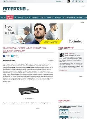 Amazona.de Test: Ampeg, Portaflex PF-500 & PF-210, Bassamp & Bassbox