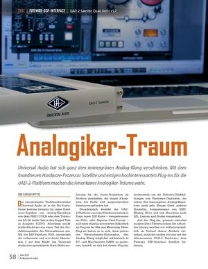 Professional Audio Analogiker-Traum