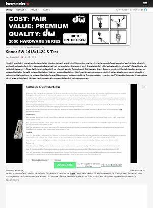 Bonedo.de Sonor SW 1418/1424 S